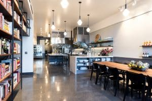 Lighting installation at a cooking school by DMR the Bay Area electrician