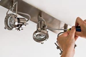 image of led lighting installation
